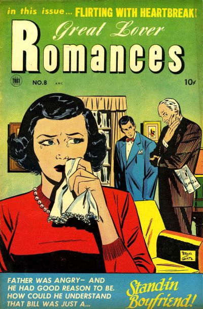 Cover for Great Lover Romances (Toby, 1951 series) #8