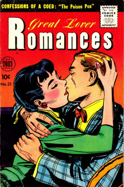 Cover for Great Lover Romances (Toby, 1951 series) #21