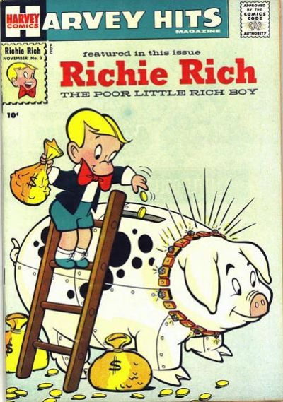 Cover for Harvey Hits (Harvey, 1957 series) #3
