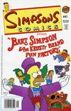 Cover for Simpsons Comics (Bongo, 1993 series) #41 [Newsstand]