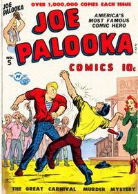 Cover Thumbnail for Joe Palooka Comics (Harvey, 1945 series) #5