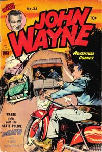 Cover Thumbnail for John Wayne Adventure Comics (Toby, 1949 series) #23