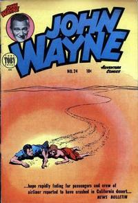 Cover Thumbnail for John Wayne Adventure Comics (Toby, 1949 series) #24