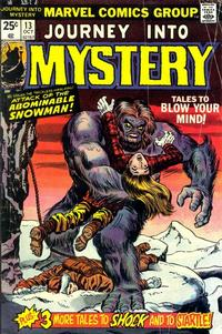 Cover for Journey into Mystery (Marvel, 1972 series) #13