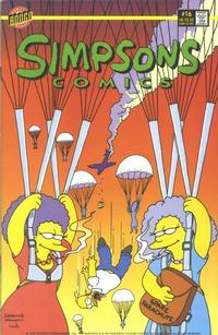 Cover for Simpsons Comics (Bongo, 1993 series) #16