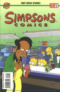 Cover for Simpsons Comics (Bongo, 1993 series) #22