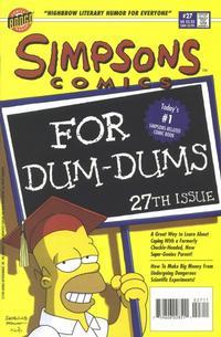 Cover Thumbnail for Simpsons Comics (Bongo, 1993 series) #27