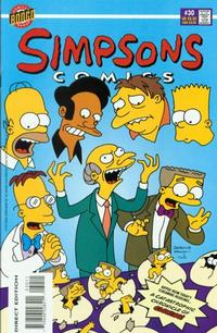 Cover for Simpsons Comics (Bongo, 1993 series) #30