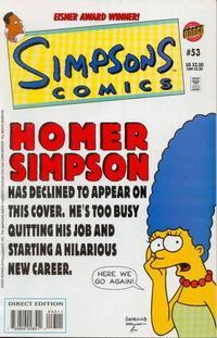 Cover Thumbnail for Simpsons Comics (Bongo, 1993 series) #53