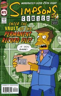Cover Thumbnail for Simpsons Comics (Bongo, 1993 series) #75