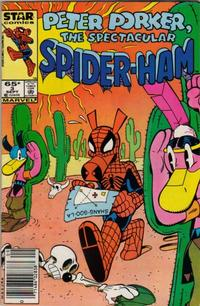 Cover Thumbnail for Peter Porker, the Spectacular Spider-Ham (Marvel, 1985 series) #3 [newsstand]