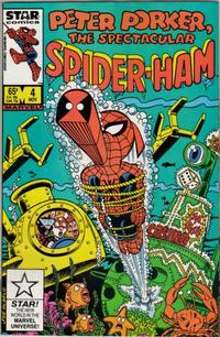 Cover Thumbnail for Peter Porker, the Spectacular Spider-Ham (Marvel, 1985 series) #4 [Direct Edition]