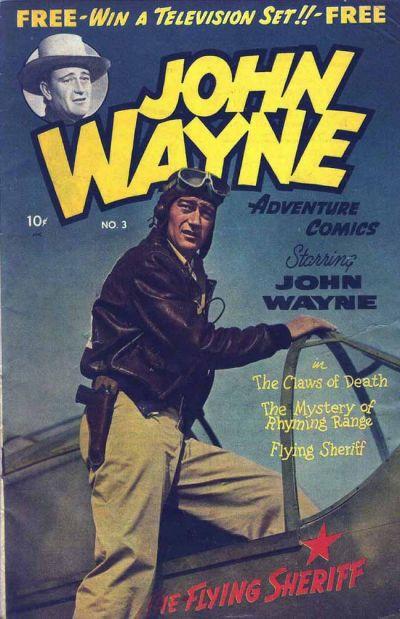Cover for John Wayne Adventure Comics (Toby, 1949 series) #3