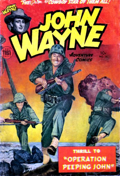 Cover for John Wayne Adventure Comics (Toby, 1949 series) #14