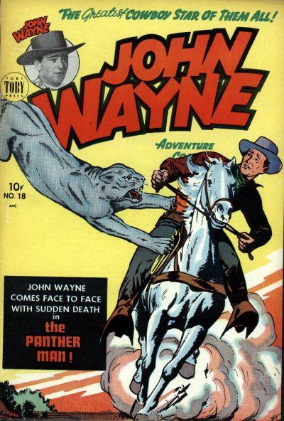 Cover for John Wayne Adventure Comics (Toby, 1949 series) #18