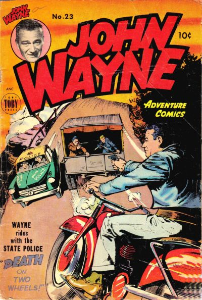 Cover for John Wayne Adventure Comics (Toby, 1949 series) #23