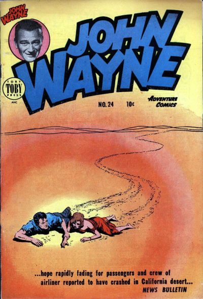 Cover for John Wayne Adventure Comics (Toby, 1949 series) #24