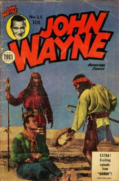Cover for John Wayne Adventure Comics (Toby, 1949 series) #25