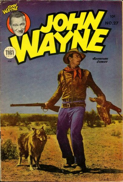 Cover for John Wayne Adventure Comics (Toby, 1949 series) #27