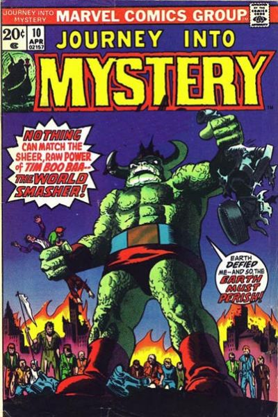 Cover for Journey into Mystery (Marvel, 1972 series) #10