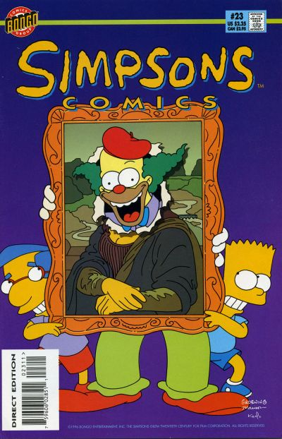 Cover for Simpsons Comics (Bongo, 1993 series) #23