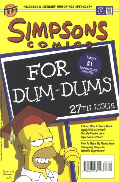 Cover for Simpsons Comics (Bongo, 1993 series) #27