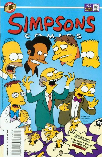 Cover for Simpsons Comics (Bongo, 1993 series) #30