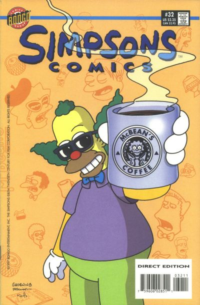 Cover for Simpsons Comics (Bongo, 1993 series) #32