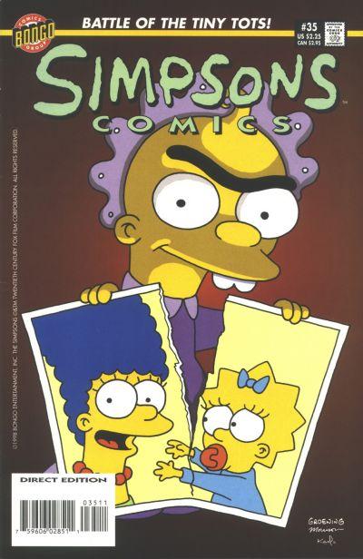 Cover for Simpsons Comics (Bongo, 1993 series) #35