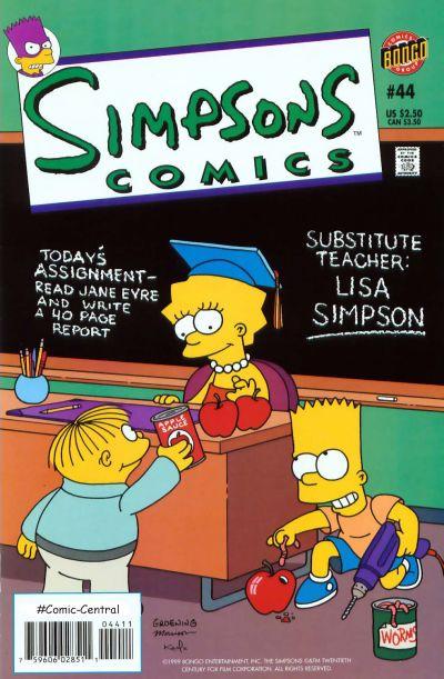 Cover for Simpsons Comics (Bongo, 1993 series) #44