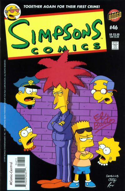 Cover for Simpsons Comics (Bongo, 1993 series) #46