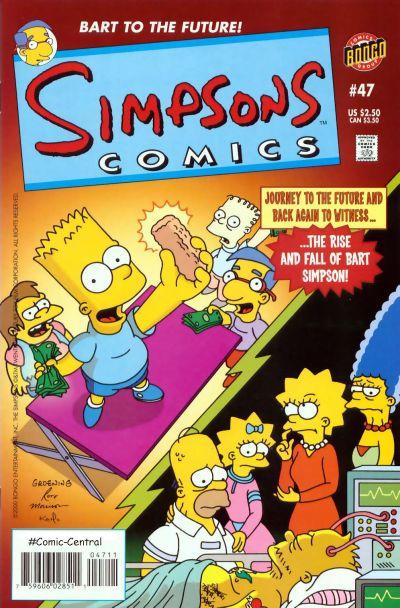 Cover for Simpsons Comics (Bongo, 1993 series) #47
