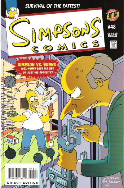Cover for Simpsons Comics (Bongo, 1993 series) #48