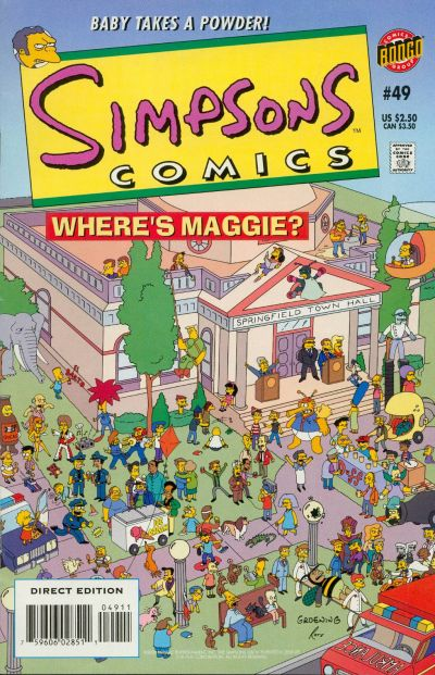 Cover for Simpsons Comics (Bongo, 1993 series) #49