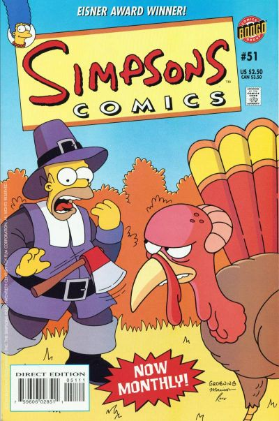 Cover for Simpsons Comics (Bongo, 1993 series) #51