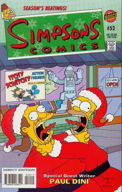 Cover for Simpsons Comics (Bongo, 1993 series) #52