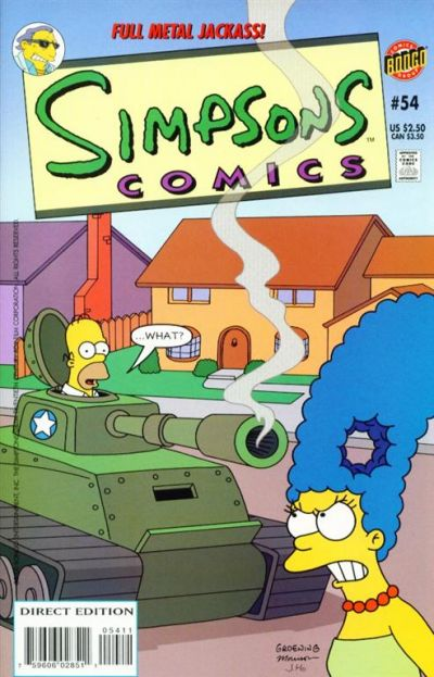 Cover for Simpsons Comics (Bongo, 1993 series) #54