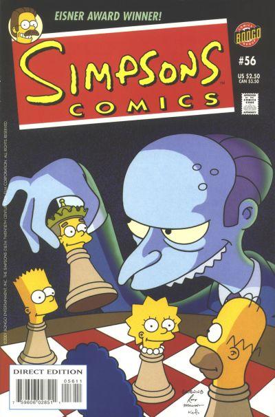 Cover for Simpsons Comics (Bongo, 1993 series) #56