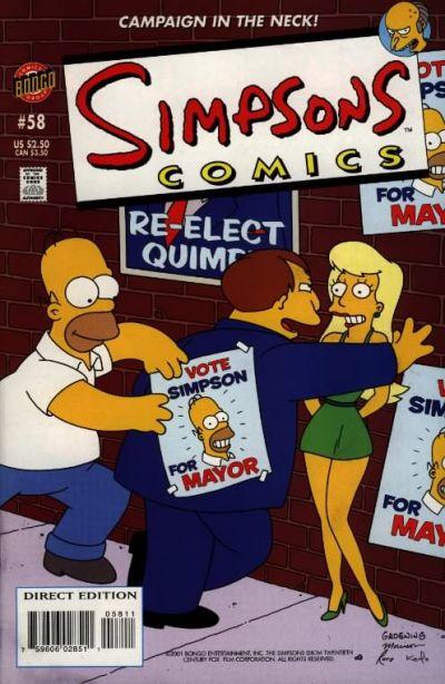 Cover for Simpsons Comics (Bongo, 1993 series) #58