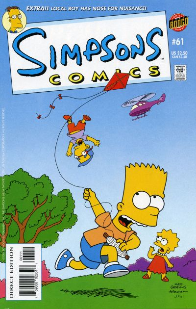 Cover for Simpsons Comics (Bongo, 1993 series) #61