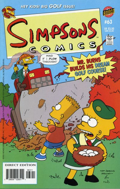 Cover for Simpsons Comics (Bongo, 1993 series) #63