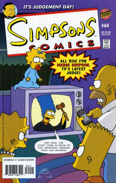 Cover for Simpsons Comics (Bongo, 1993 series) #64