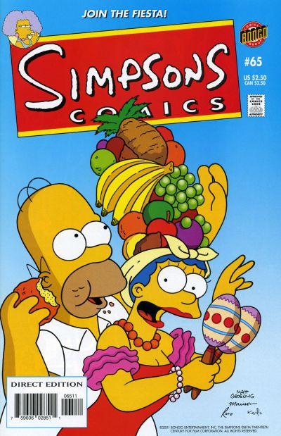 Cover for Simpsons Comics (Bongo, 1993 series) #65