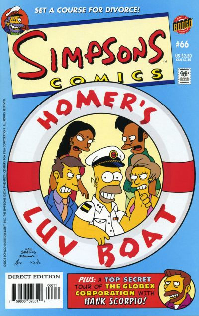 Cover for Simpsons Comics (Bongo, 1993 series) #66
