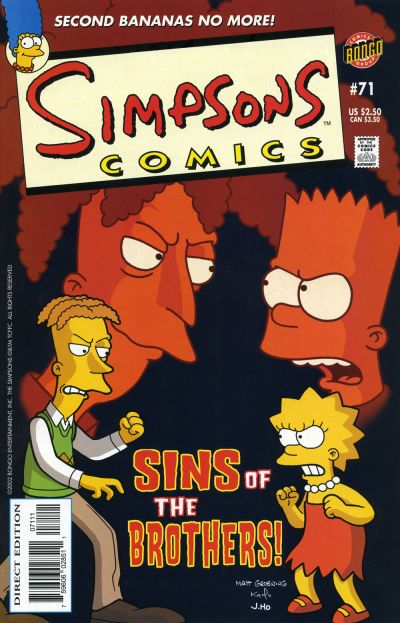 Cover for Simpsons Comics (Bongo, 1993 series) #71