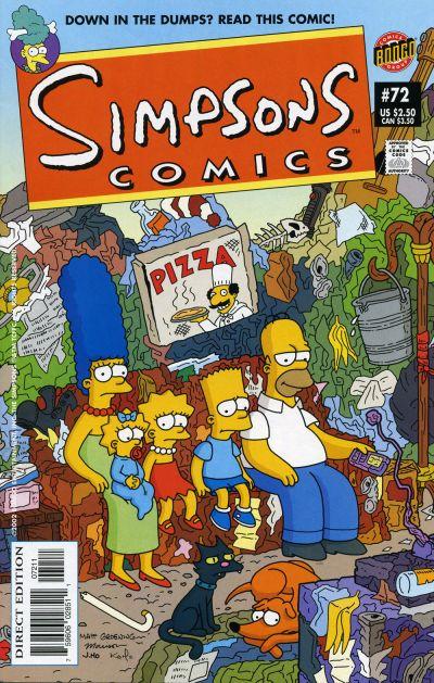 Cover for Simpsons Comics (Bongo, 1993 series) #72