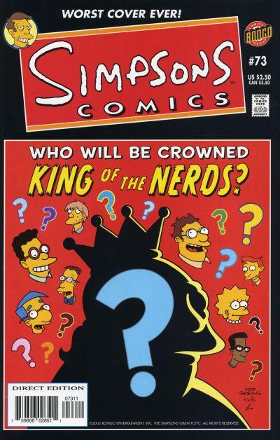 Cover for Simpsons Comics (Bongo, 1993 series) #73