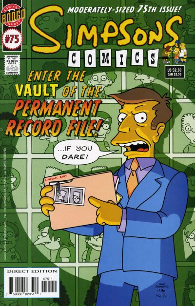 Cover for Simpsons Comics (Bongo, 1993 series) #75