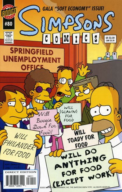 Cover for Simpsons Comics (Bongo, 1993 series) #80