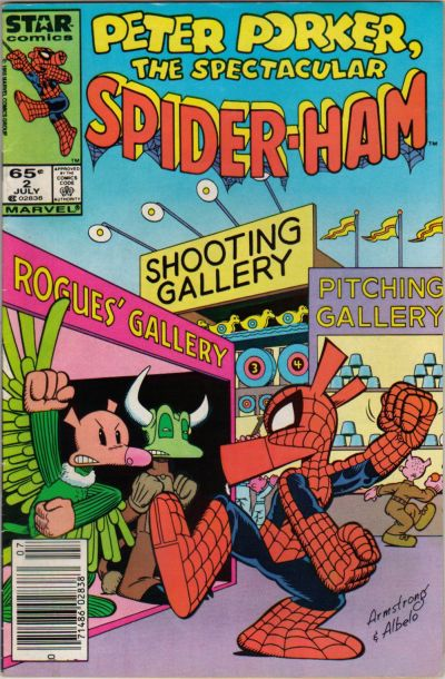 Cover for Peter Porker, the Spectacular Spider-Ham (Marvel, 1985 series) #2 [Direct Edition]